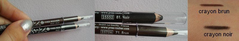 -- crayons khôl 81 & 71 Yves rocher -- dans Swatchs crayon